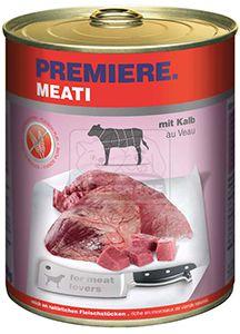 Premiere Meati kutya konzerv adult borjú 6x800g