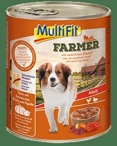 MultiFit Farmer kutya konzerv adult csirke&kacsa 6x800g