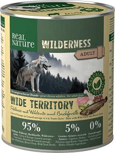 REAL NATURE Wilderness kutya konzerv adult nyúl&vadkacsa 6x800g