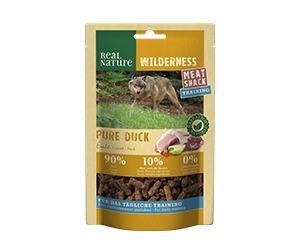 REAL NATURE Wilderness Meat Snack Training kutya jutalomfalat kacsa 150g