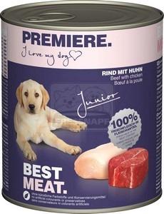 Premiere Best Meat kutya konzerv junior csirke&marha 6x800g