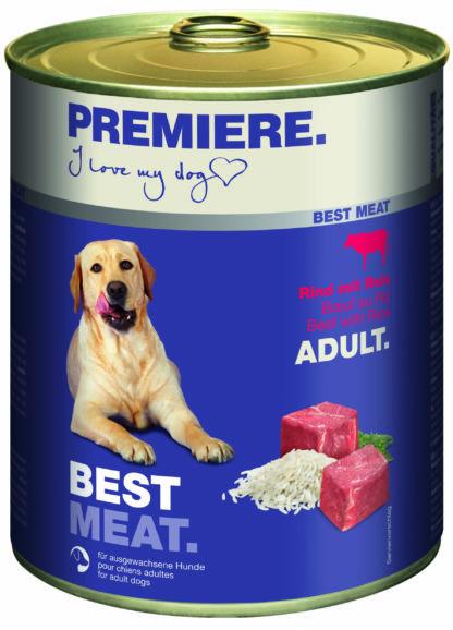 Premiere Best Meat kutya konzerv adult marha&rizs 6x800g
