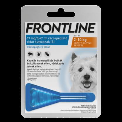 Frontline spot-on kullancs, bolha és tetvek ellen kutyáknak S 2-10kg