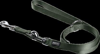 AniOne kutya póráz Classic dupla zöld 200X2,5cm