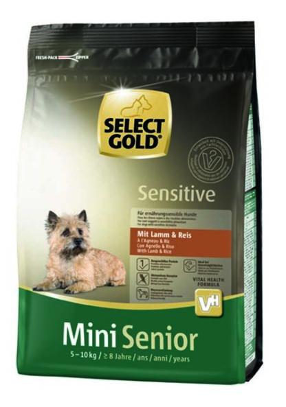 SELECT GOLD Sensitive kutya szárazeledel mini senior bárány 1kg