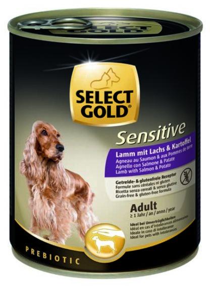 SELECT GOLD Sensitive kutya konzerv adult bárány&lazac 6x800g