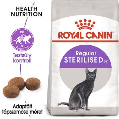 Royal Canin Feline Health Nutrition Sterilised 37 száraz macskaeledel 4kg