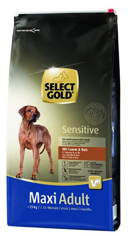 SELECT GOLD Sensitive kutya szárazeledel maxi adult bárány 12kg