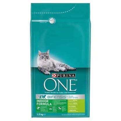 Purina One macska szárazeledel indoor pulyka&gabona 1,5kg