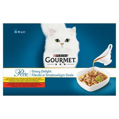 Gourmet Perle Gravy Delight macska tasak MP csirke 4x85g