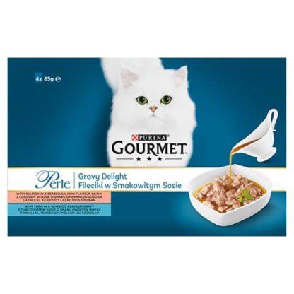 Gourmet Perle Gravy Delight macska tasak MP lazac 4x85g