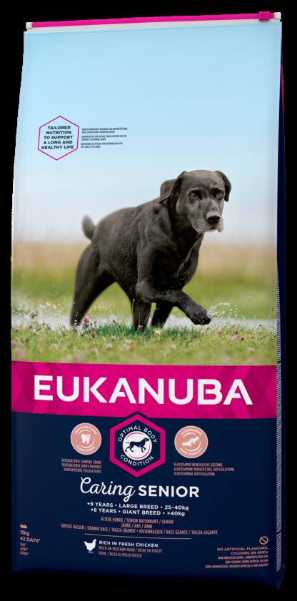 Eukanuba száraz kutyaeledel Large Breeds senior csirke 15kg