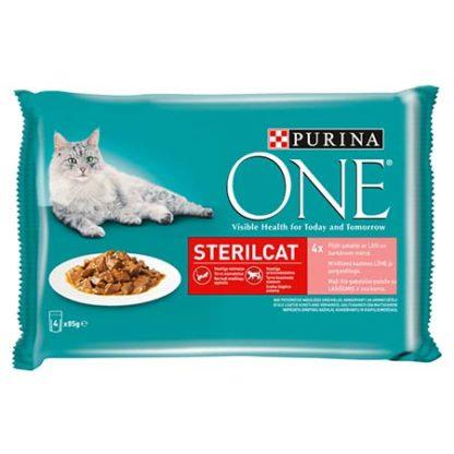 Purina One macska tasak MP steril lazac&sárgarépa 4x85g