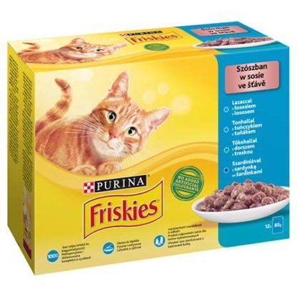 Friskies macska tasak MP lazac&tonhal&szardínia&tőkehal 12x85g