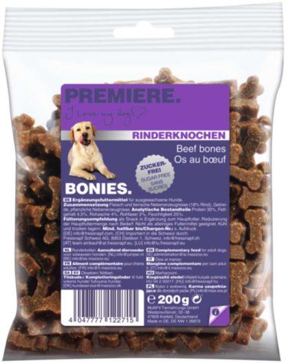 Premiere Bonies kutya jutalomfalat marha 200g