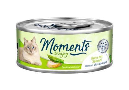 Moments macska konzerv csirke&spárga 70g