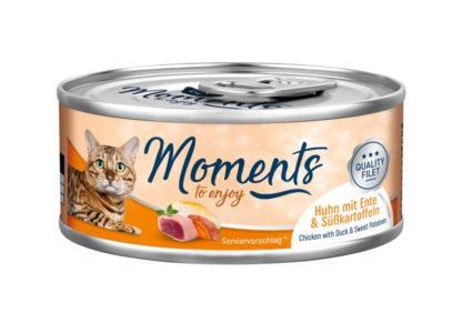 Moments macska konzerv kacsa&édesburgonya 70g