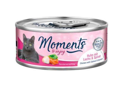 Moments macska konzerv lazac&spenót 70g