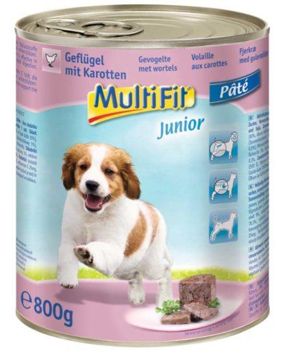 MultiFit kutya konzerv paté junior szárnyas 6x800g
