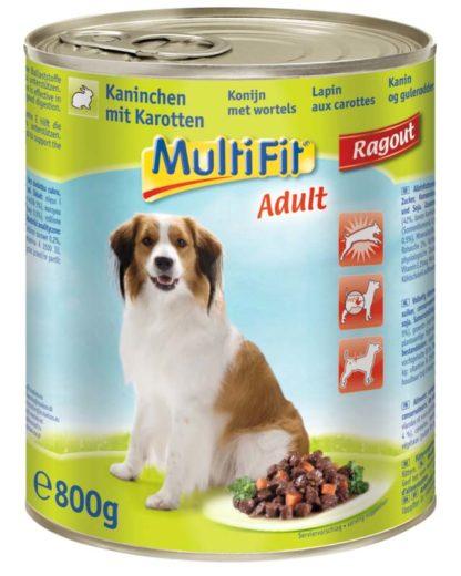 MultiFit kutya konzerv ragu adult nyúl&sárgarépa 6x800g