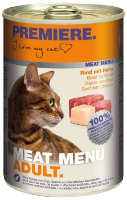 Premiere Meat Menu macska konzerv adult marha&csirke 6x400g