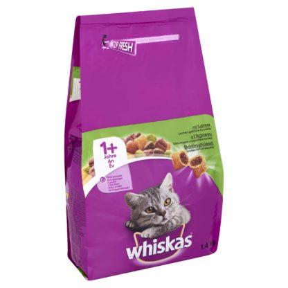 Whiskas száraz macskaeledel bárány 1,4kg