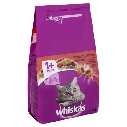 Whiskas száraz macskaeledel marha 1,4kg