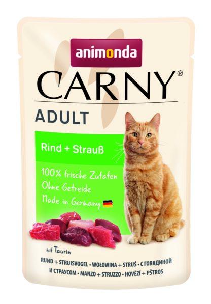 Animonda Carny macska tasak adtult marha&strucc 85g
