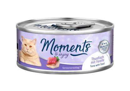 Moments macska konzerv tonhal&pisztráng 70g