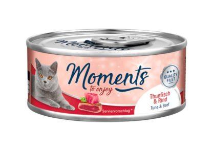 Moments macska konzerv adult tonhal&marha 70g