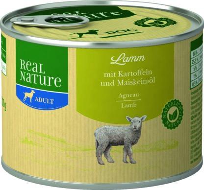 REAL NATURE Classic kutya konzerv adult bárány&burgonya 200g