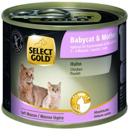 SELECT GOLD macska konzerv babycat&mother 200g