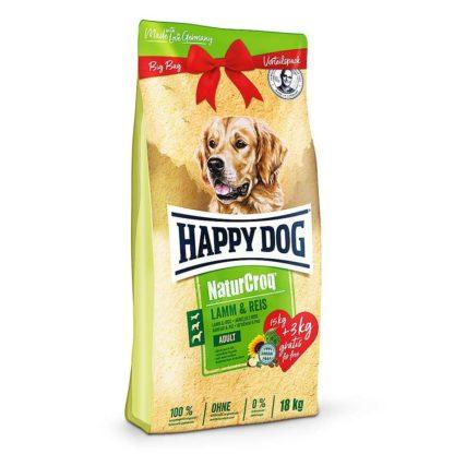 Happy Dog Natur Croq kutya szárazeledel adult bárány&rizs 15+3kg