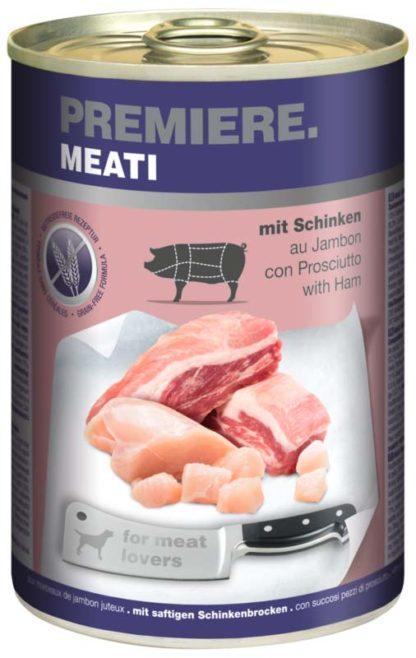 Premiere Meati kutya konzerv adult sonka 6x400g