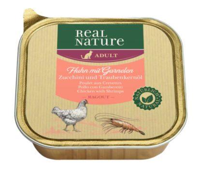 Real Nature macska tálka adult csirke&garnéla 16x100g