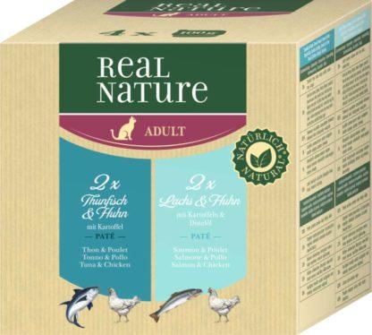 Real Nature macska tálka MP adult hal&csirke 4x100g