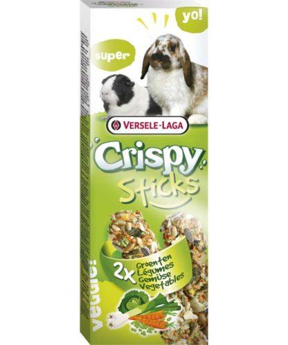 Versele-Laga Crispy Sticks nyúlnak és tengerimalacnak zöldséges 110g 2db