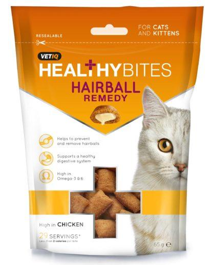 VetIQ Healthy Bites macska jutalomfalat szőrgolyó elleni 65g