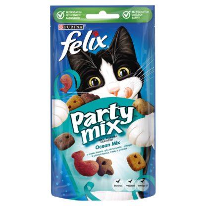 Felix Party Mix macska jutalomfalat Ocean Mix lazac&tőkehal&pisztráng 8x60g