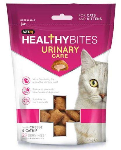 VetIQ Healthy Bites macska jutalomfalat húgykő elleni 65g