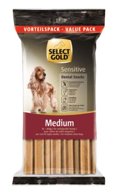 Select Gold Sensitive Dental Snacks kutya jutalomfalat MP medium 504g