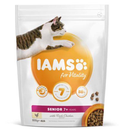 IAMS Vitality macska szárazeledel senior csirke 800g