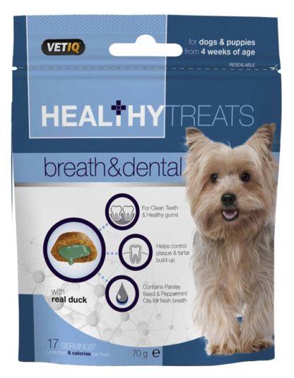 VetIQ Healthy Treats kutya jutalomfalat fogápoló 70g
