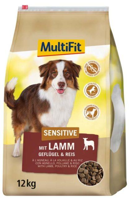 MultiFit Sensitive kutya szárazeledel bárány&szárnyas 12kg