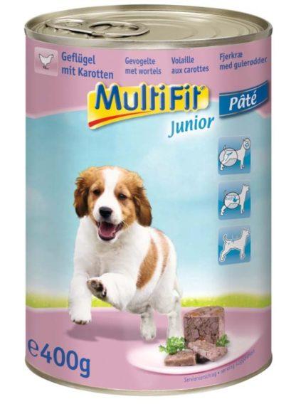 MultiFit kutya konzerv junior szárnyas&burgonya 12x400g