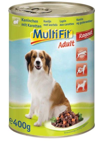 MultiFit kutya konzerv adult nyúl&sárgarépa 12x400g