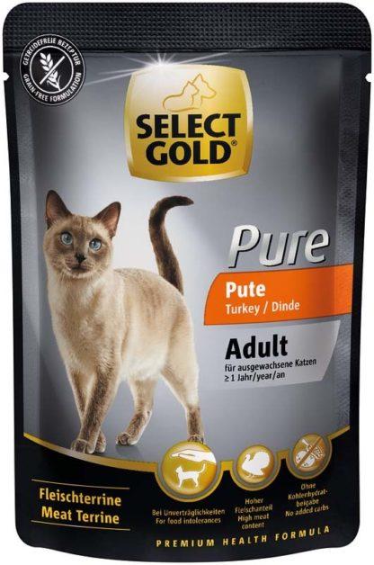 Select Gold Pure macska tasak adult pulyka 85g