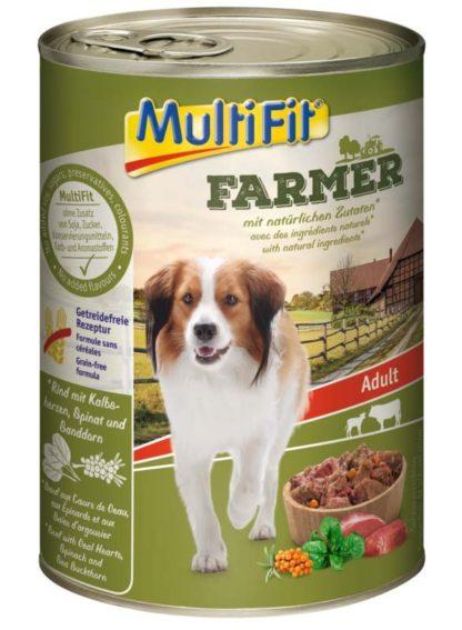 MultiFit Farmer kutya konzerv adult marha&borjú 6x400g