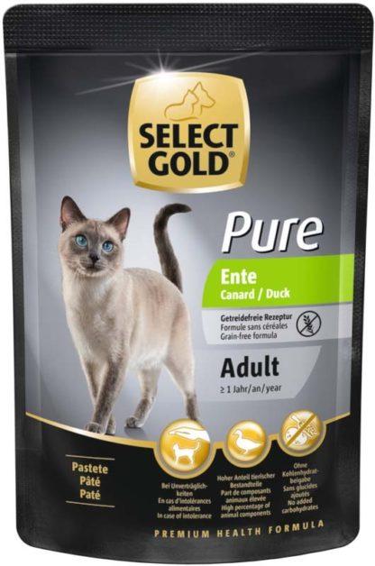 Select Gold Pure macska tasak adult kacsa 85g