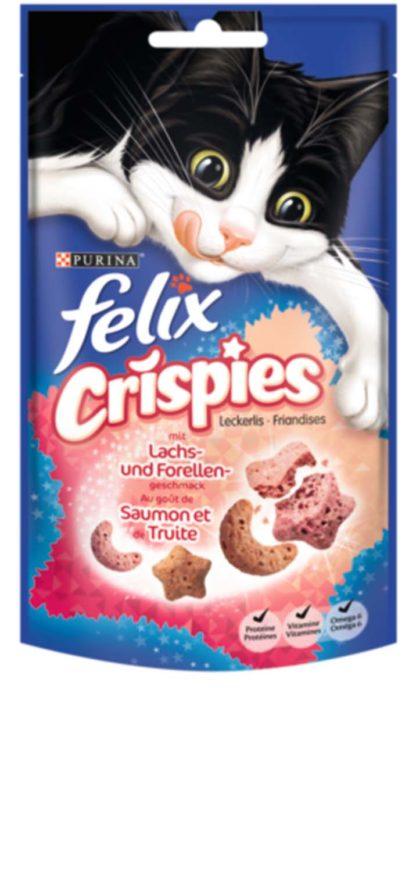 Felix Crispies macska jutalomfalat lazac&pisztráng 45g